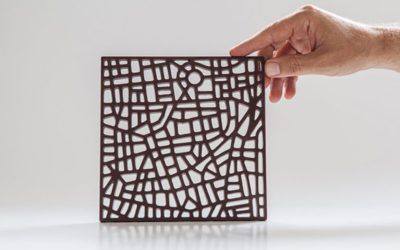 Chocolate artesanal, modelado con el diseño del mapa de distintas ciudades