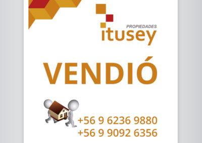 Cliente PROPIEDADES ITUSEY, Diseño gráfico e impresión