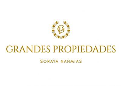 logo de Grandes Propiedades diseñado por Josefina Oñederra em DEOZ Estudio de Diseño
