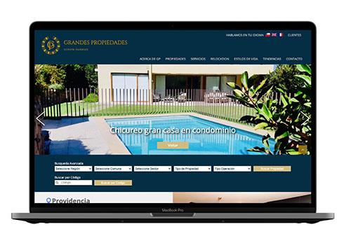 software web propiedades diseñado por DEOZ ESTUDIO DE DISEÑO